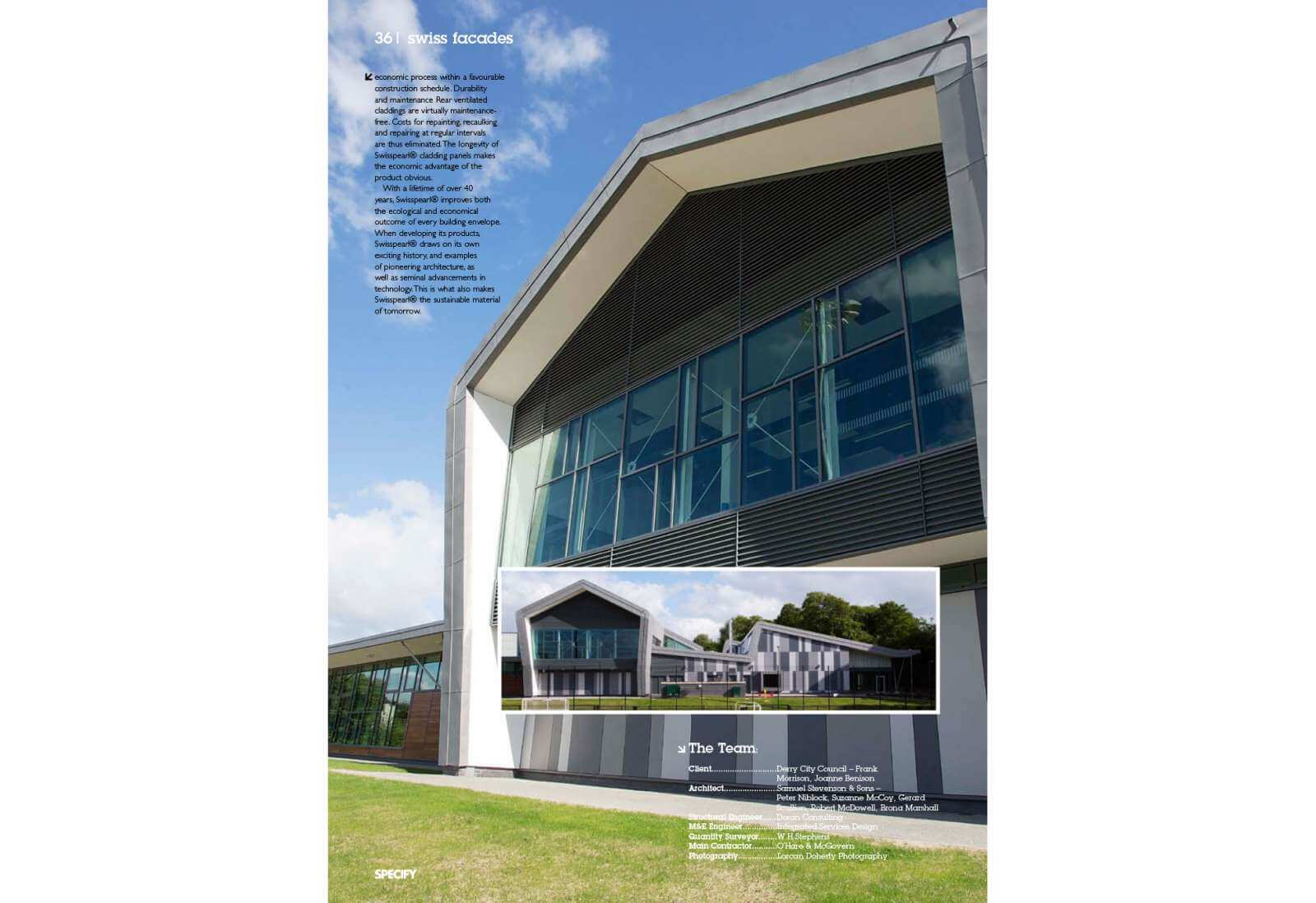 Specify Moyle - cladding by Swiss Facades