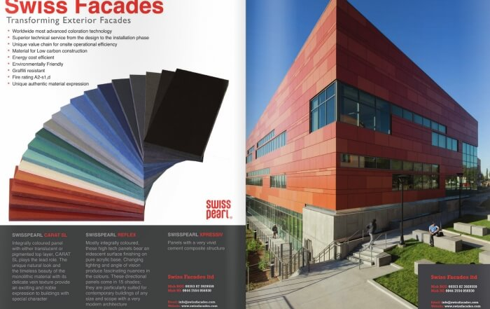 Cladding by Swiss Facades - Specify Magazin sep-2014