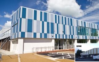 Cladding - derg valley leisure centre