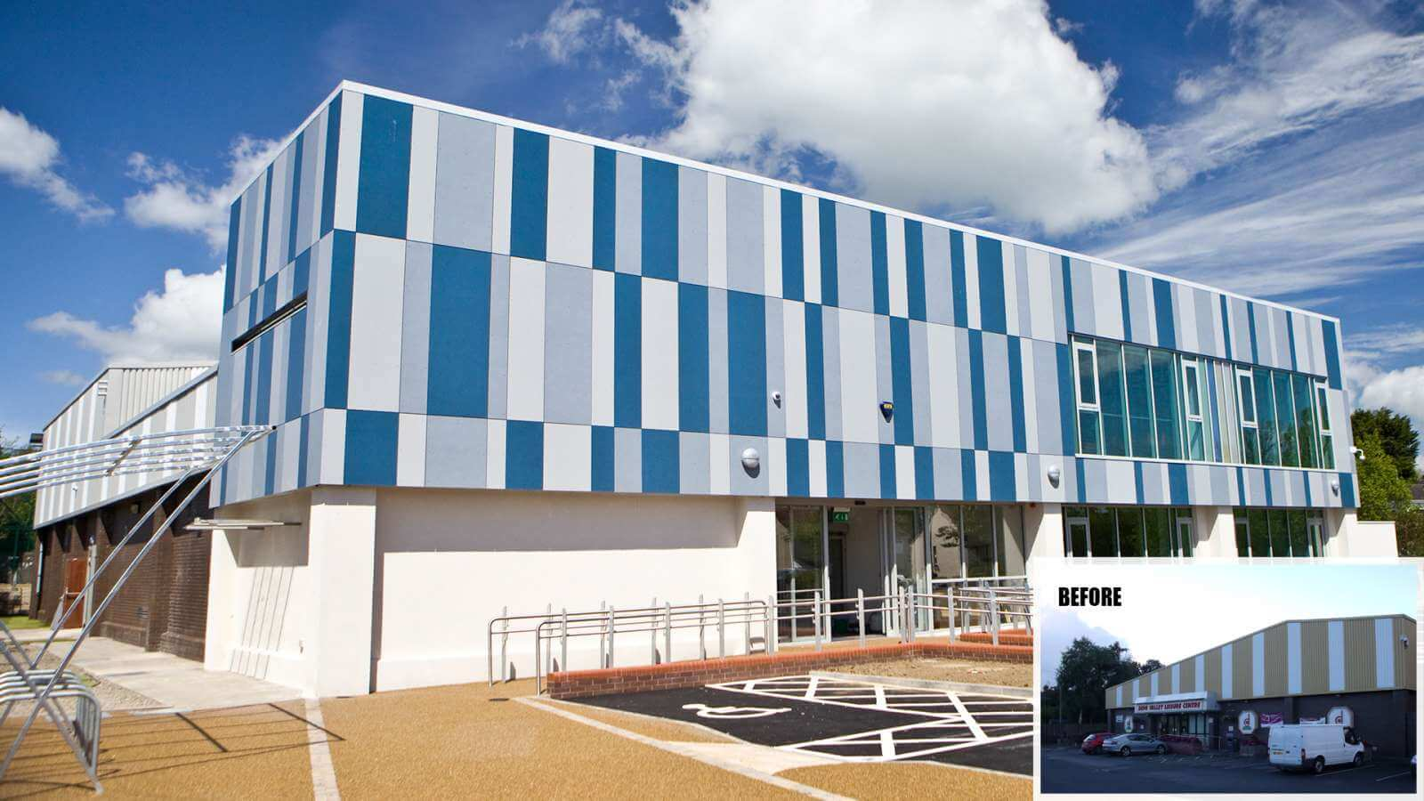 Cladding - derg valley leisure centre