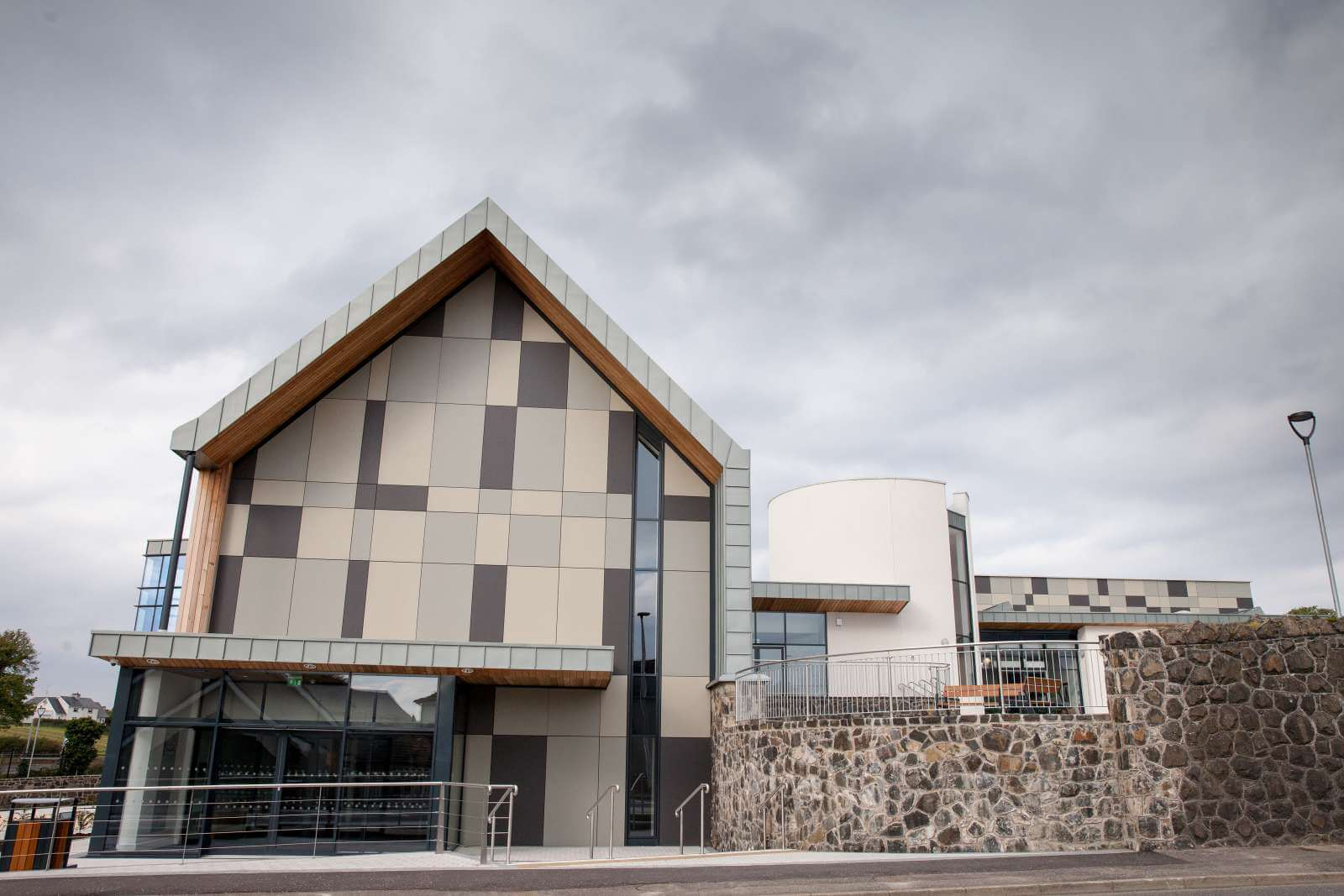 Seamus Heaney Home Place, is given a Swisspearl® Façade.