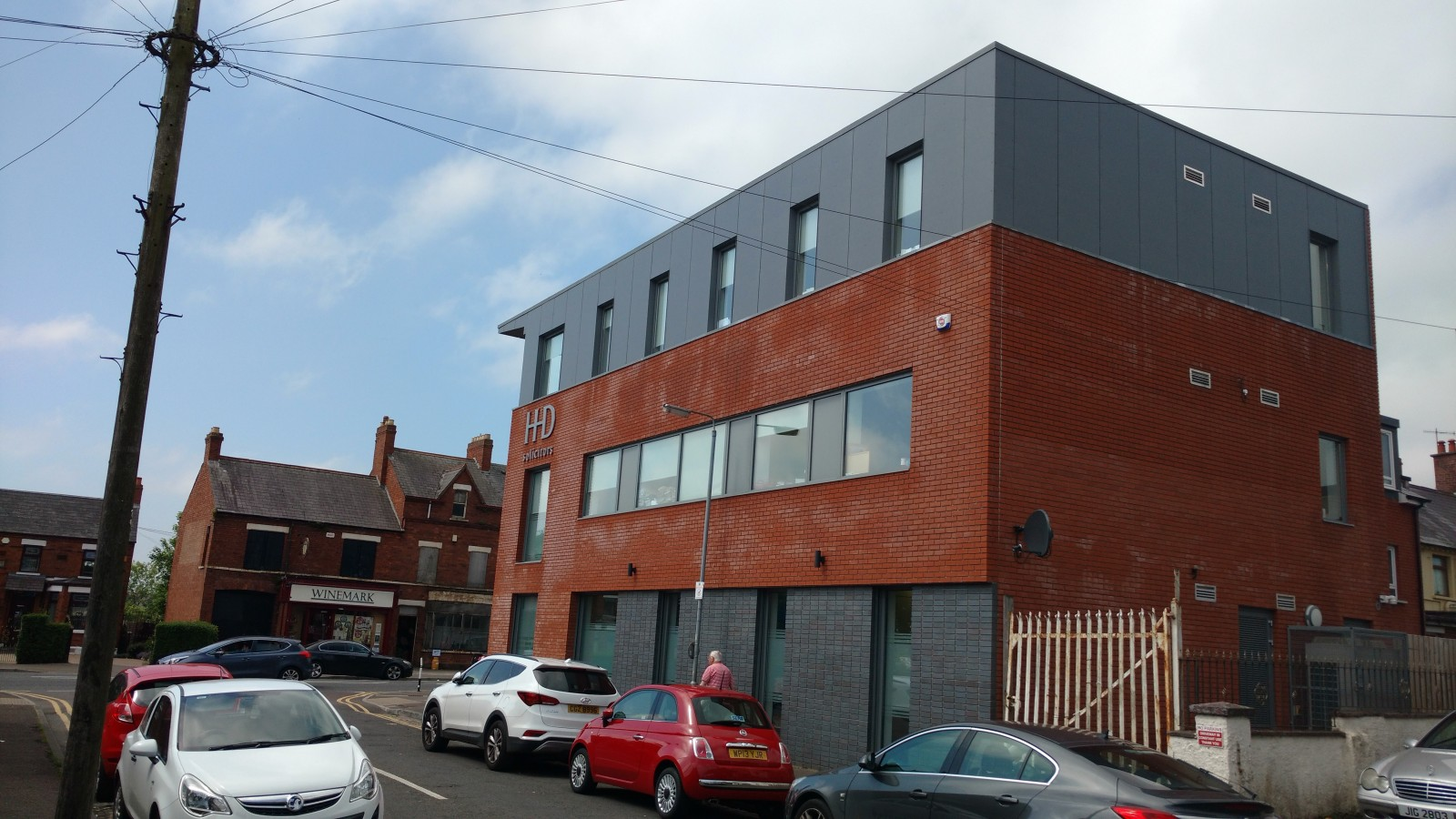 office in belfast fibre cement cladding