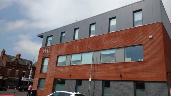 office in belfast fibre cement cladding
