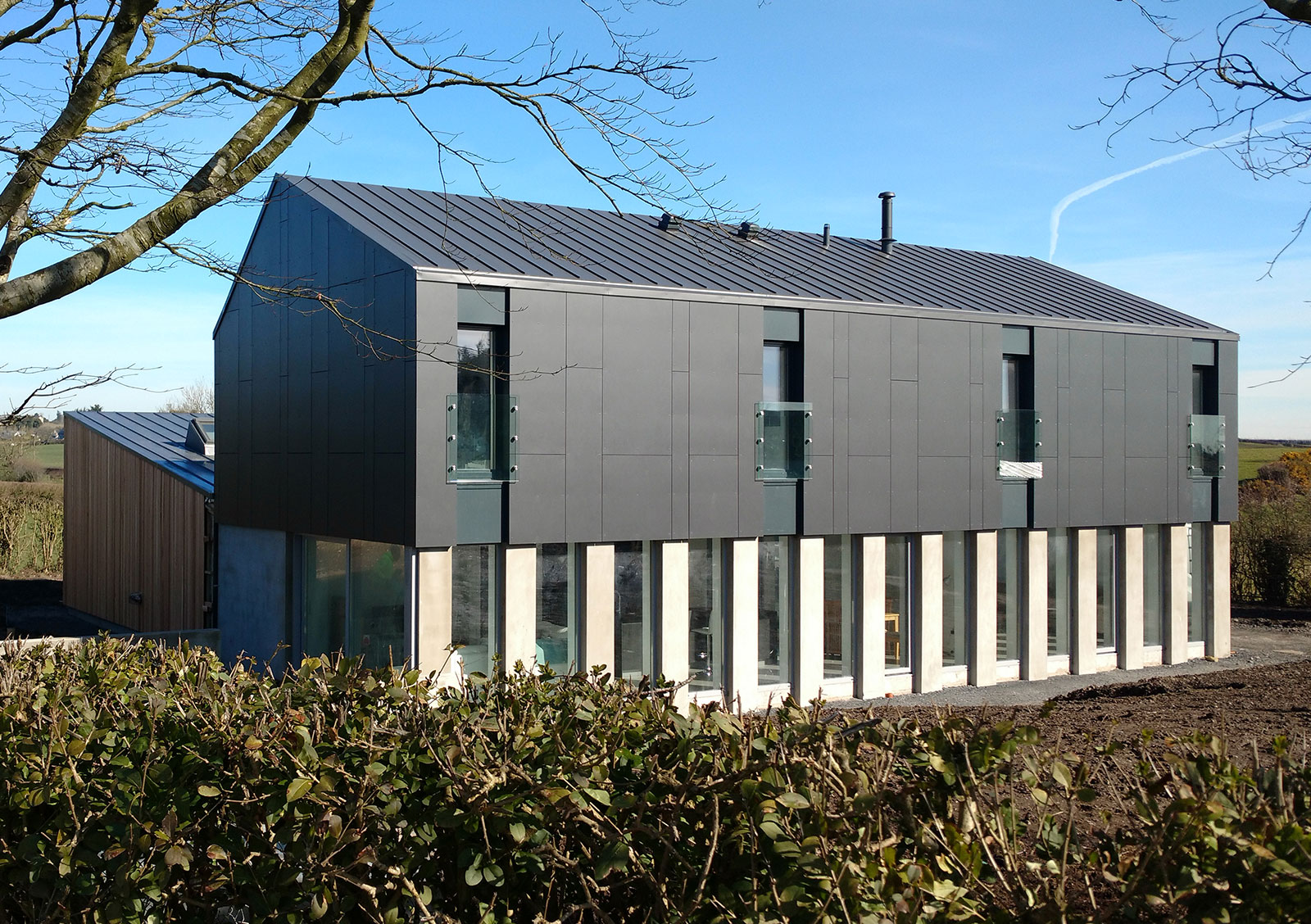 fibre cement cladding - residential sector - private dwelling Belfast, Northern Ireland